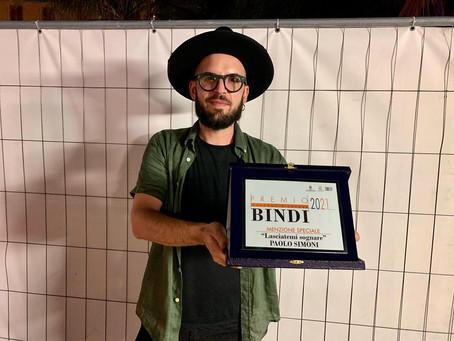 """Premio Bindi 2021, menzione speciale: """"Lasciatemi Sognare"""" a Paolo Simoni"""