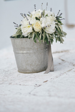 Olive Green & White Wedding