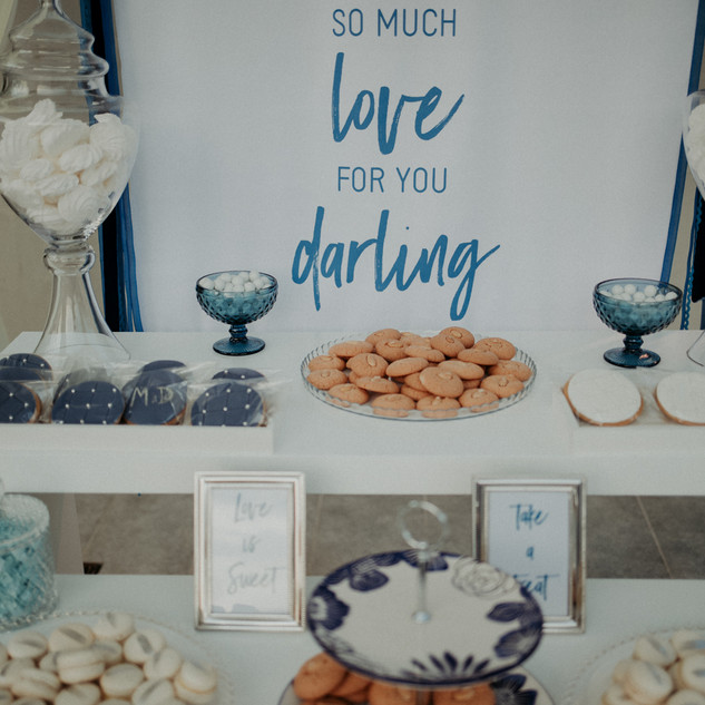 Blue hues wedding