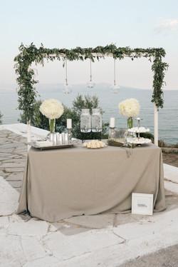 Olive Green & White Wedding