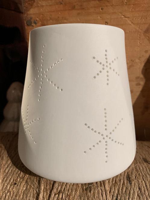 Tealight Holder Porcelain Snowflake