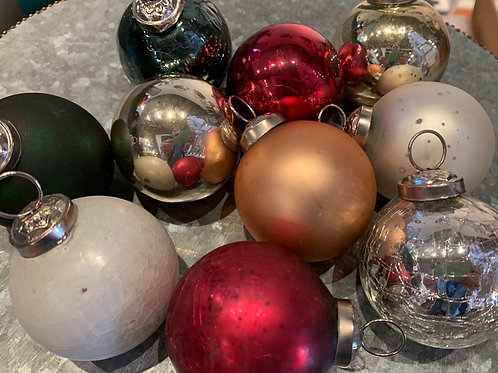 Glass Ornament Luxe Colors