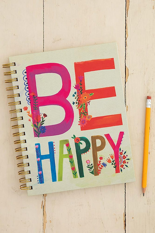 Be Happy Spiral Notebook