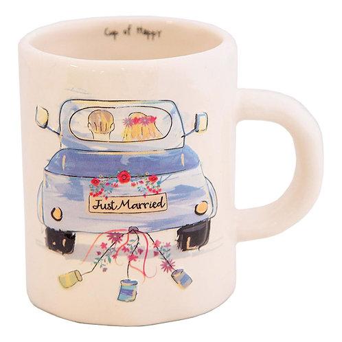 Just Married Embossed Mug