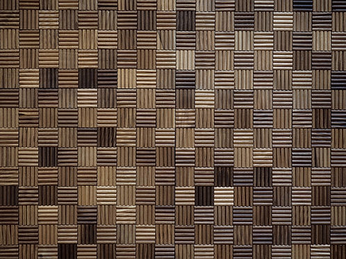 lined wooden mosaic tiles