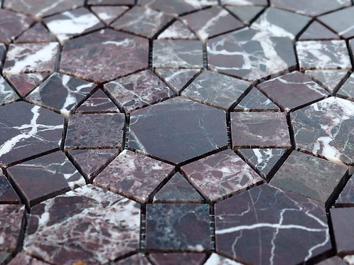 rosso levanto mosaic tile