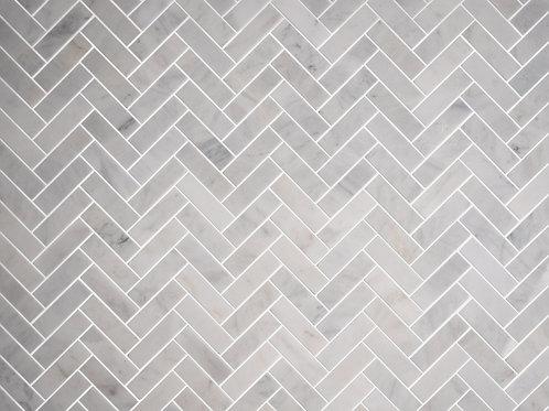 white stone tile