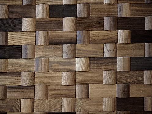 wavy wooden tile