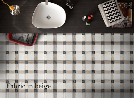 Fabric Beige Marble Mosaic / Stylish and Budget