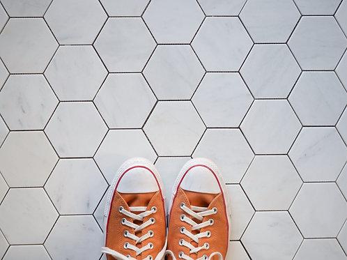 Calacatta Marble XL Hexagon Tiles