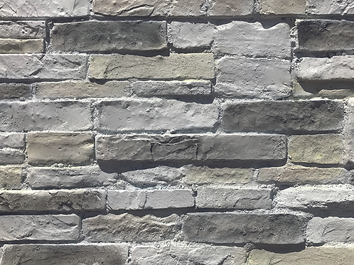 Grey Strip Stone Effect Wall Decor Fibre Panel