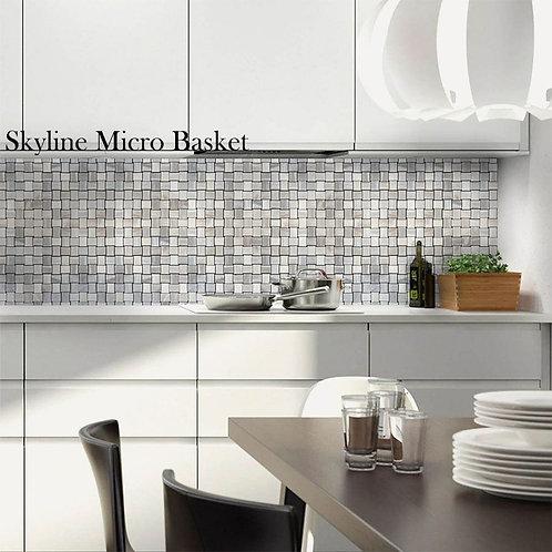 basket wave mosaic tiles
