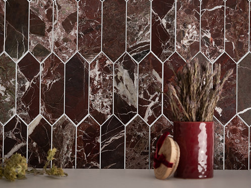 Diamond Rosso Levanto Marble Tiles