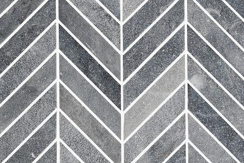 Belgium Stone Marble Chevron Sandblasted Tiles