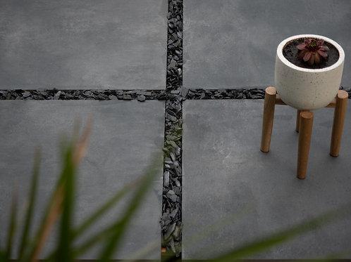 Brut Anthracite Outdoor Porcelain Tiles