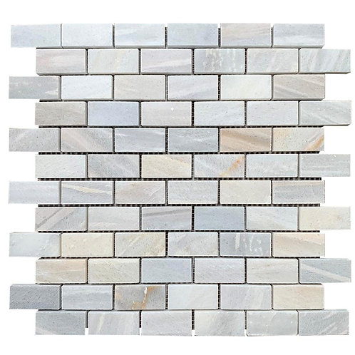 Marble Mosaic Mini Subway Skyline Tile per SQM