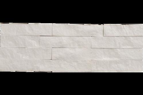 Splitface Dolomite White Marble Tile per SQM