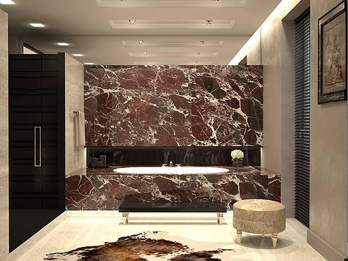 Marble Tile Rosso Levanto 305mm x 305mm Tiles per SQM