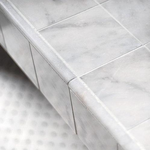 Carrara Honed Marble Dado Pencil Liner