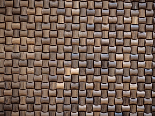 wicker wooden mosaic tiles