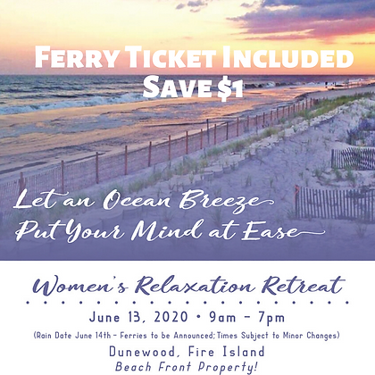 Women's Relaxation Retreat (Ferry ticket included)
