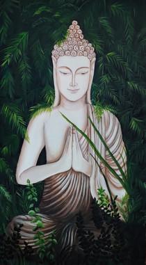 Peaceful Buddha painting