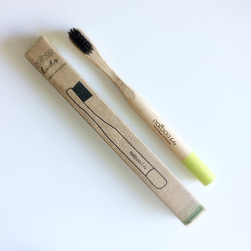 2 kids Natboo Toothbrushes. Yellow-Green + (another color)