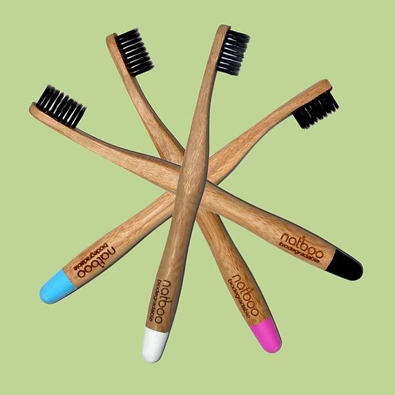Natboo  Biodegradable Toothbrush, Vegan Toothbrush, Green Product