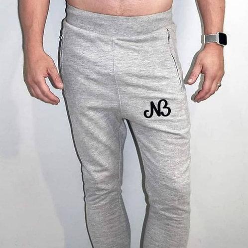 Logo low crotch joggers