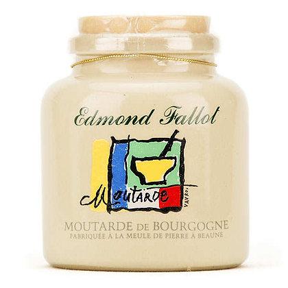 Moutarde de Bourgogne en pot de grès décoré 250ml