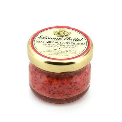 Moutarde au cassis de Dijon en pot portion 25g