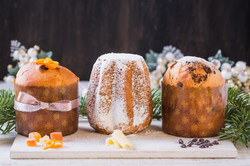 Panettone and pandoro traditional italia