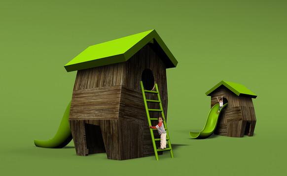 Play / birdhouse idea