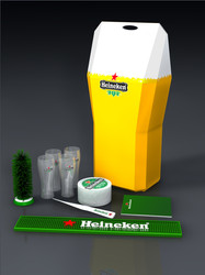 Heineken Pos pack design