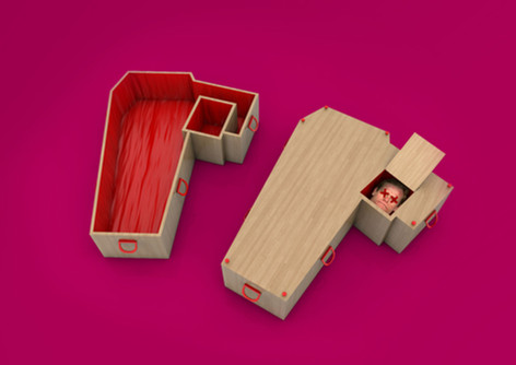 Coffin for de-headed people