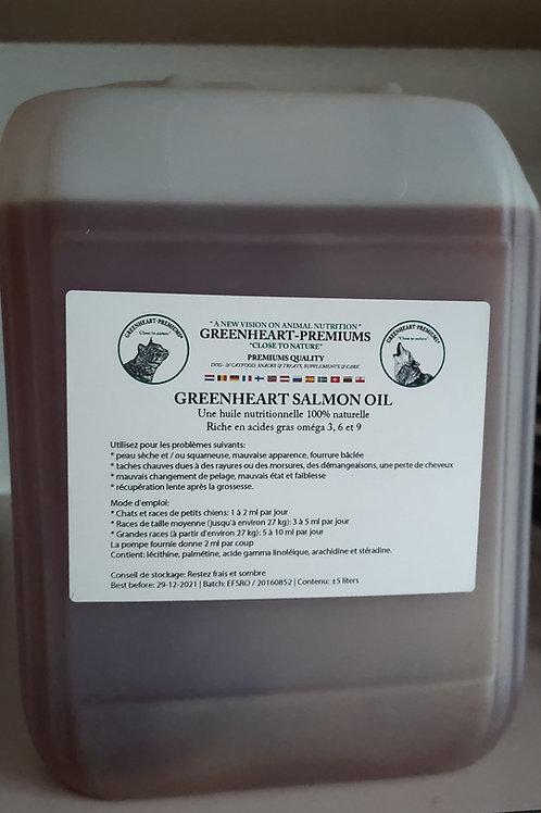 Greenheart chien chat huile de Saumon 5l