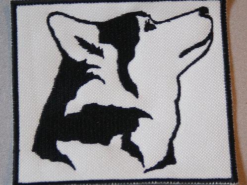 Ecusson tête de husky 2