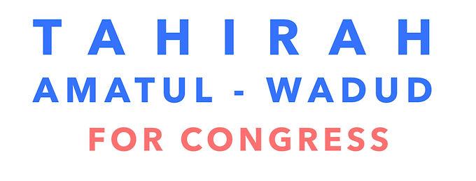 Tahirah Amatul-Wadud For Congress