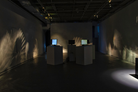 """Angosht"" as a 5-channel audio + video installation"