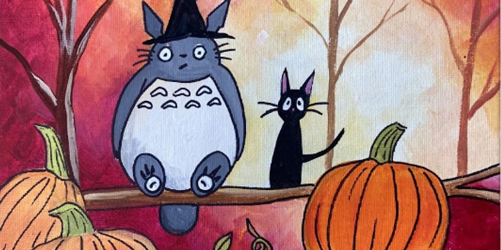 Totoro's Halloween (Acrylic on Canvas)
