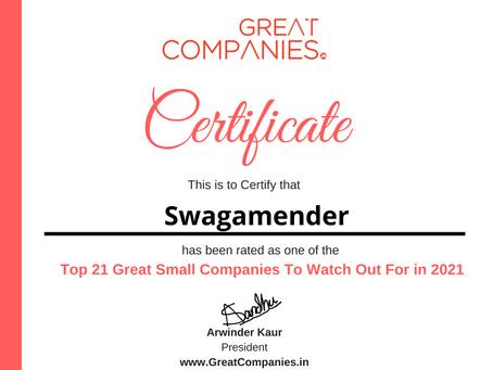 Swagamender - Great Small Companies To Watch Out For in 2021