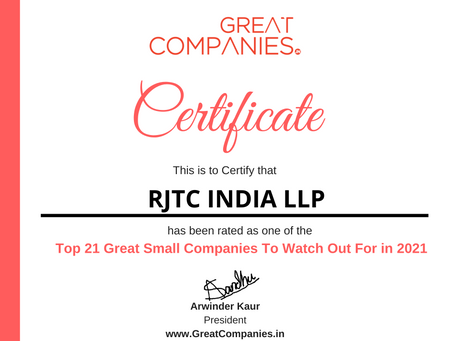 RJTC INDIA LLP - Great Small Companies To Watch Out For in 2021
