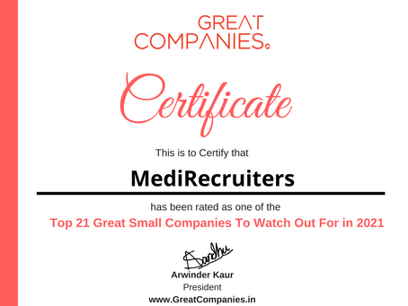 MediRecruiters - Great Small Companies To Watch Out For in 2021