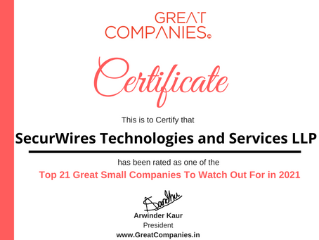 SecurWires Technologies and Services LLP - Great Small Companies To Watch Out For in 2021