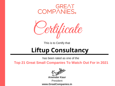 Liftup Consultancy - Great Small Companies To Watch Out For in 2021