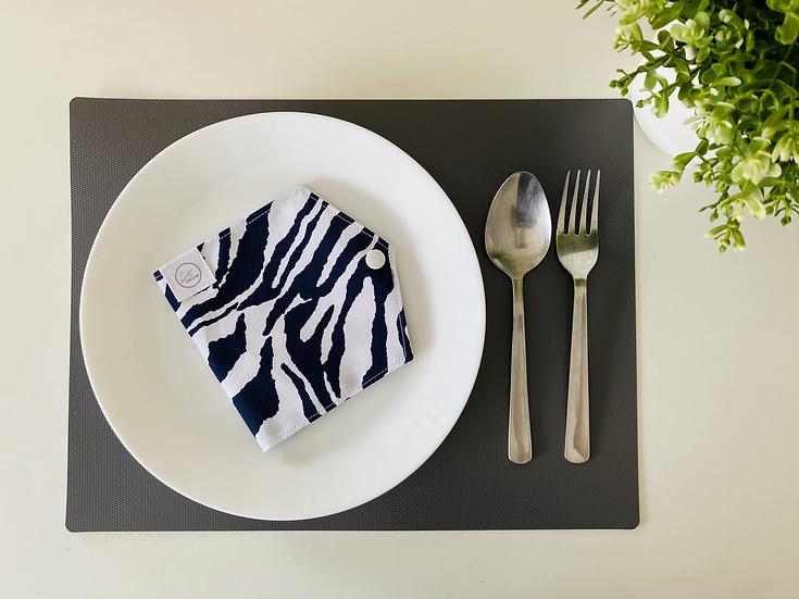 Blue White Zebra Mask Holder (MH-U010)