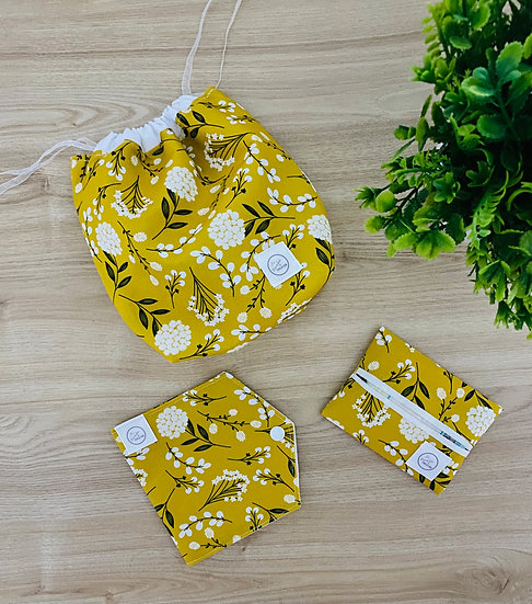 Mustard Dandelions Drawstring (DS011-2)