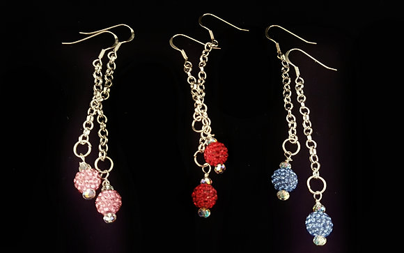 ROCK GLAMOUR COLLECTION- Rockin' Red Earrings