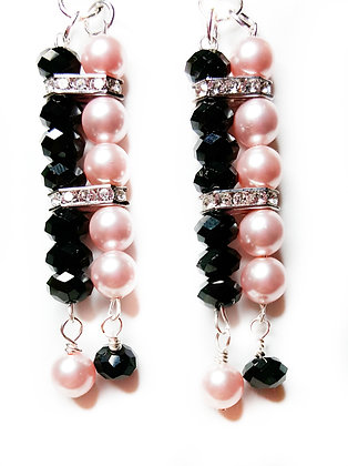 Black and blush pink fashion earrings *set option