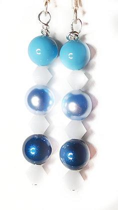 Blue Frost Swarovski© Earrings